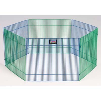 "Midwest Small Pet Playpen 6 panels Black 15"" x 19"""