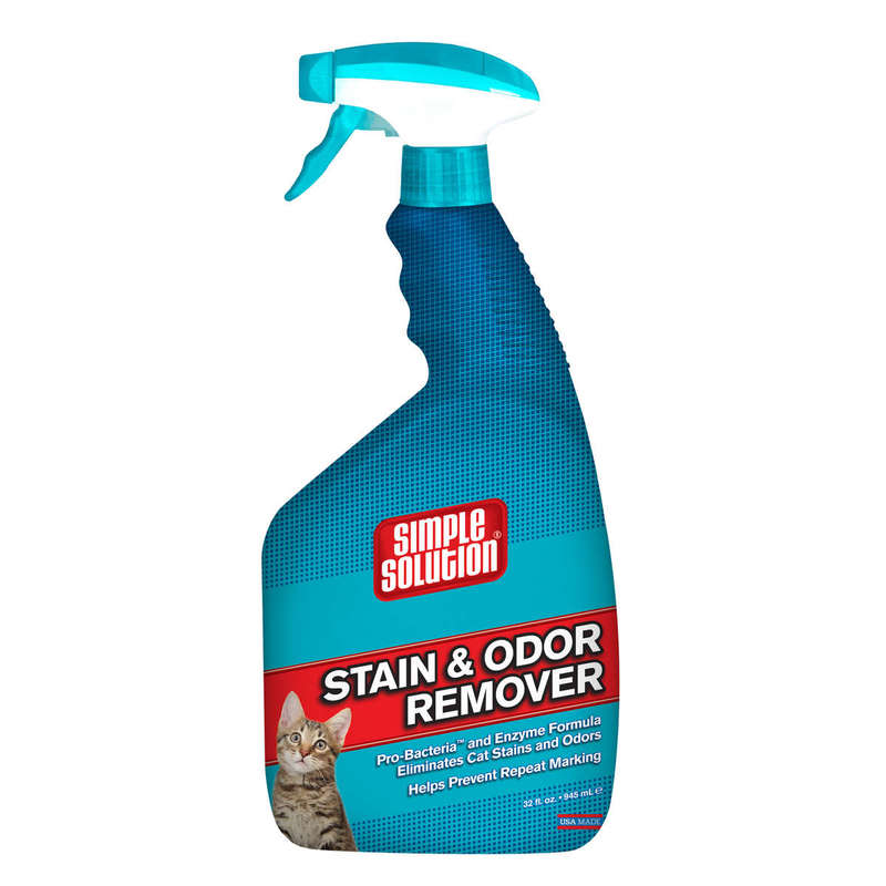 "Simple Solution Cat Stain and Odor Remover 32oz 2.9"" x 4.8"" x 10.75"""