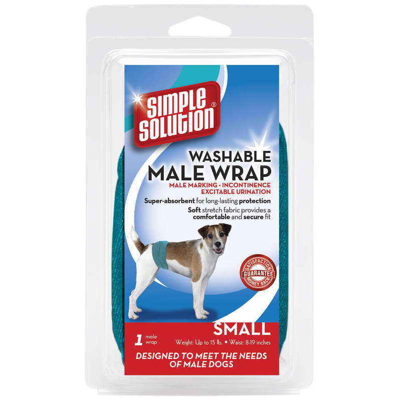 Simple Solution Washable Male Dog Wrap Small Teal