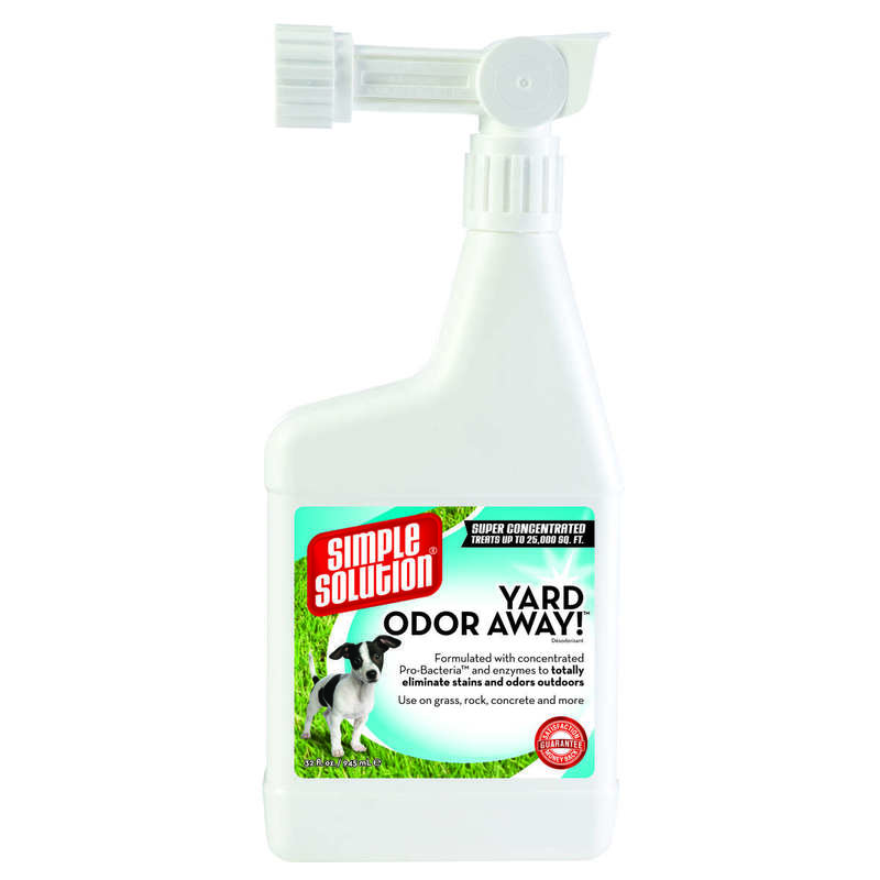 "Simple Solution Yard Odor Away Hose Spray Concentrate 32oz White 2.25"" x 5.25"" x 11.5"""