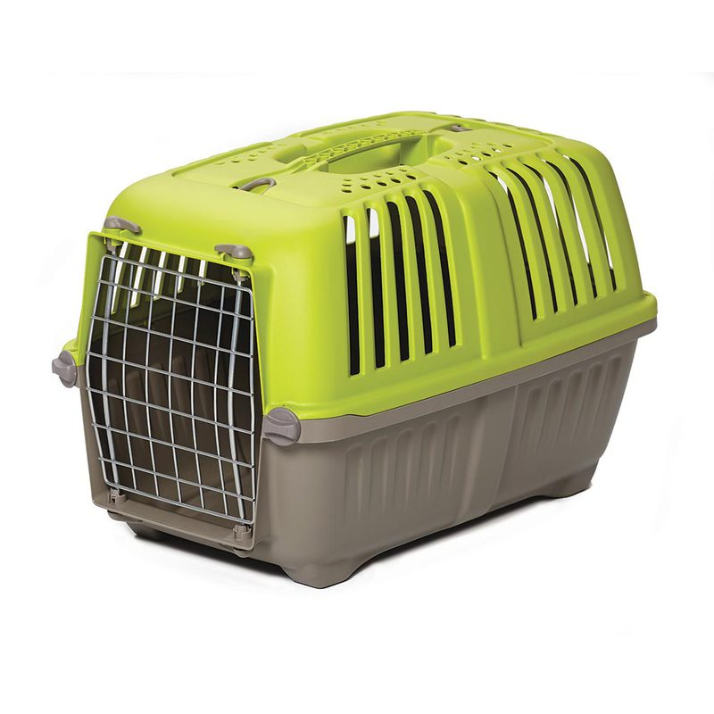 "Midwest Spree Plastic Pet Carrier Green 21.875"" x 14.25"" x 14.25"""