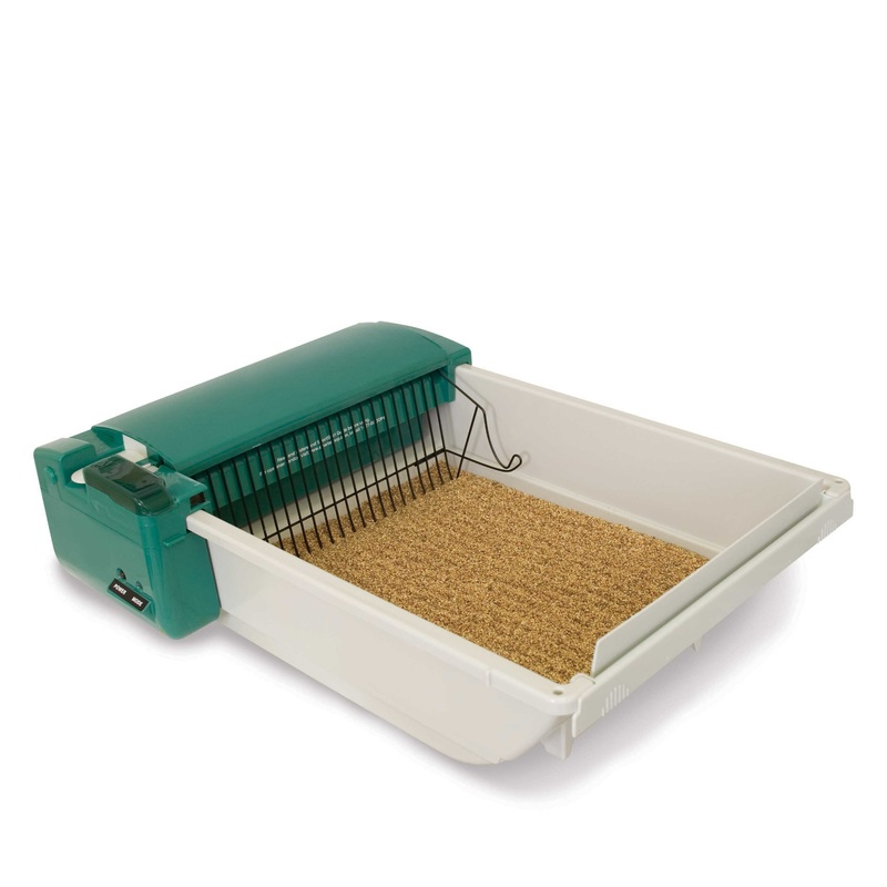 "Our Pets SmartScoop Intelligent Litter Box Green 25.5"" x 18.25"" x 7.5"""