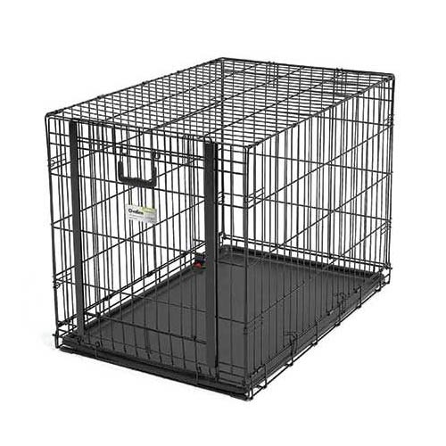 "Midwest Ovation Single Door Crate with Up and Away Door Black 37.25"" x 23"" x 25"""