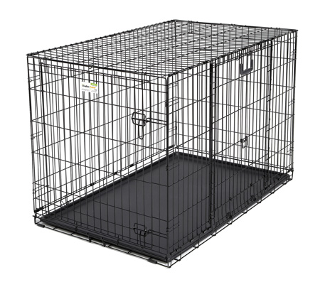 "Midwest Ovation Double Door Crate with Up and Away Door Black 43.75"" x 28.25"" x 30.50"""
