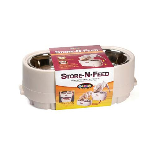 "Our Pets Store-N-Feed Large White 22"" x 10"" x 8"""