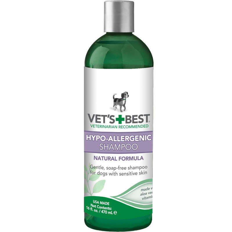 "Vet's Best Hypo-Allergenic Dog Shampoo 16oz Green 2.45"" x 2.45"" x 8"""