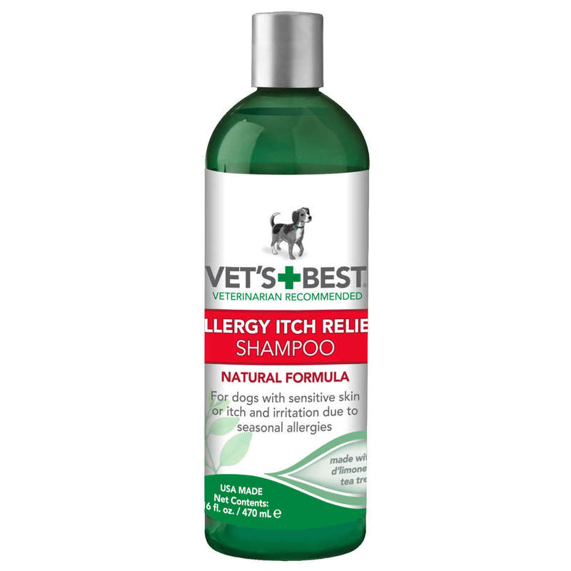 "Vet's Best Allergy Itch Relief Dog Shampoo 16oz Green 2.45"" x 2.45"" x 8"""