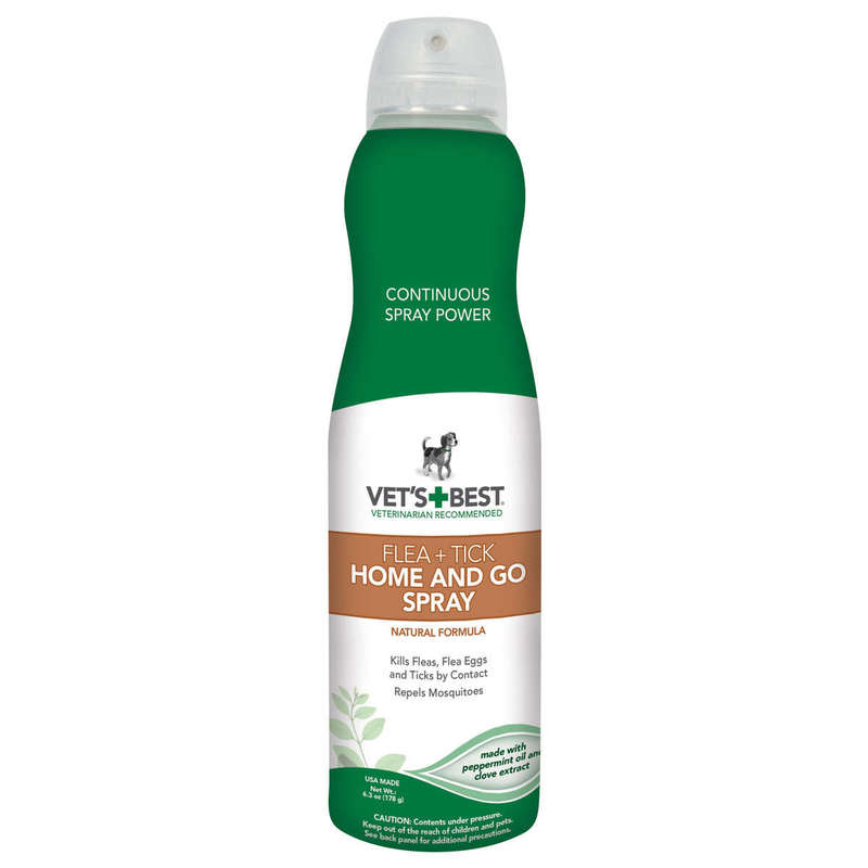 "Vet's Best Dog Flea and Tick Home and Go Spray 6.3oz Green 2.09"" x 2.09"" x 8.75"""