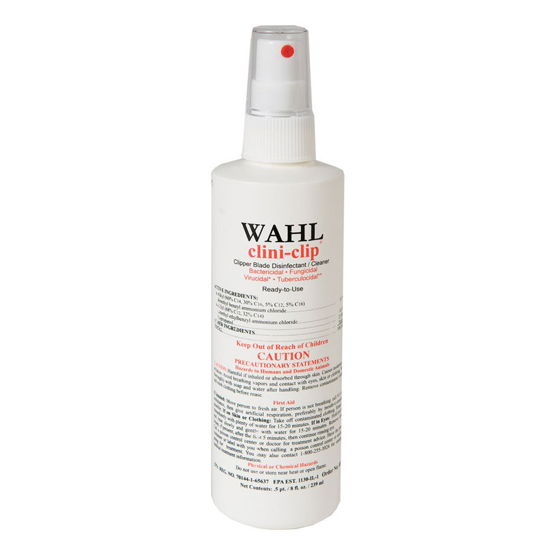 "Wahl Clini Clip Cleaner and Disinfectant 8 ounces White 6"" x 2"" x 2"""
