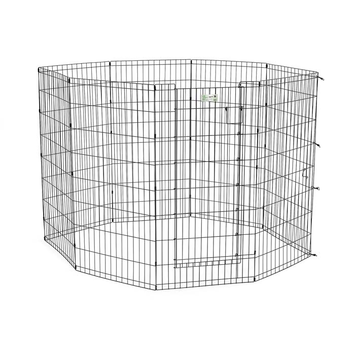 "Midwest Life Stages Pet Exercise Pen with Door 8 Panels Black 24"" x 36"""