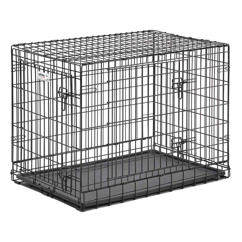 "Midwest Ultima Pro Double Door Dog Crate Black 37"" x 24.50"" x 28"""
