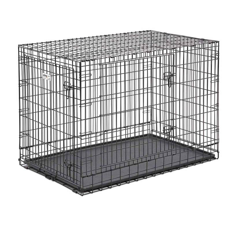 "Midwest Ultima Pro Double Door Dog Crate Black 49"" x 30"" x 34.50"""