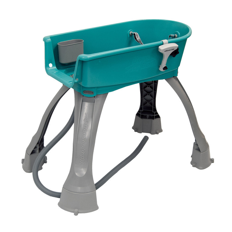 "Booster Bath Elevated Pet Bathing Medium Teal 33"" x 16.75"" x 10"""