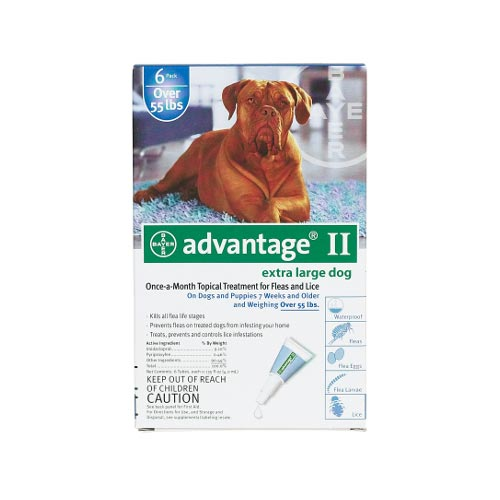 Advantage Flea Control for Dogs And Puppies Over 55 lbs 6 Month Supply