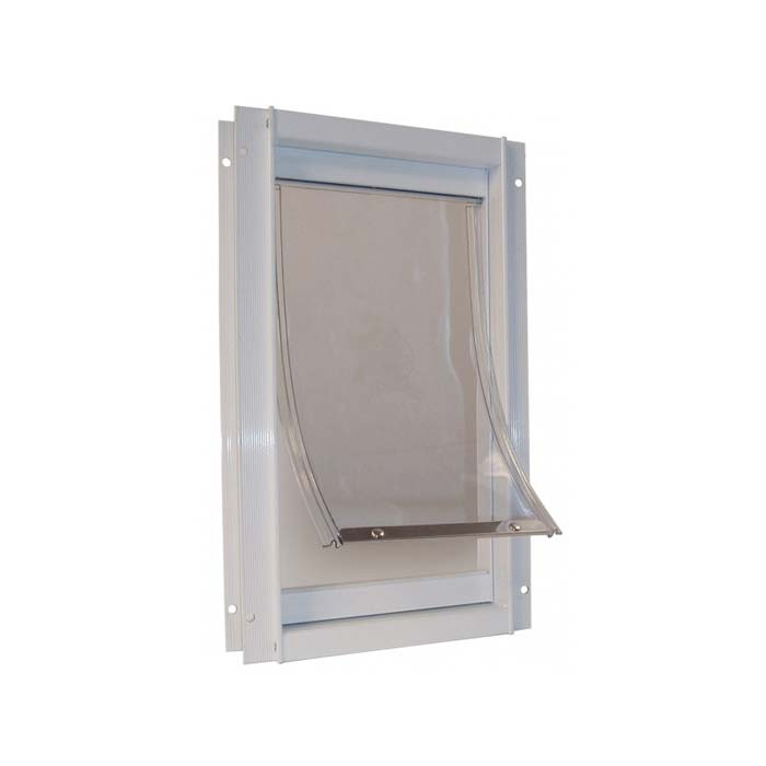 Ideal Pet Product Deluxe Dog Door: White, Medium