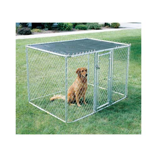 "Midwest Chain Link Portable Dog Kennel Silver 72"" x 48"" x 48"""
