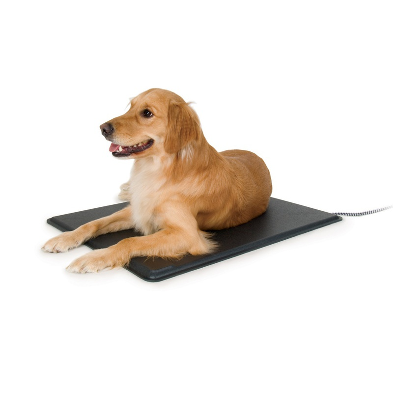 "K&H Pet Products Lectro-Kennel Heated Pad Large Black 22.5"" x 28.5"" x 0.5"""