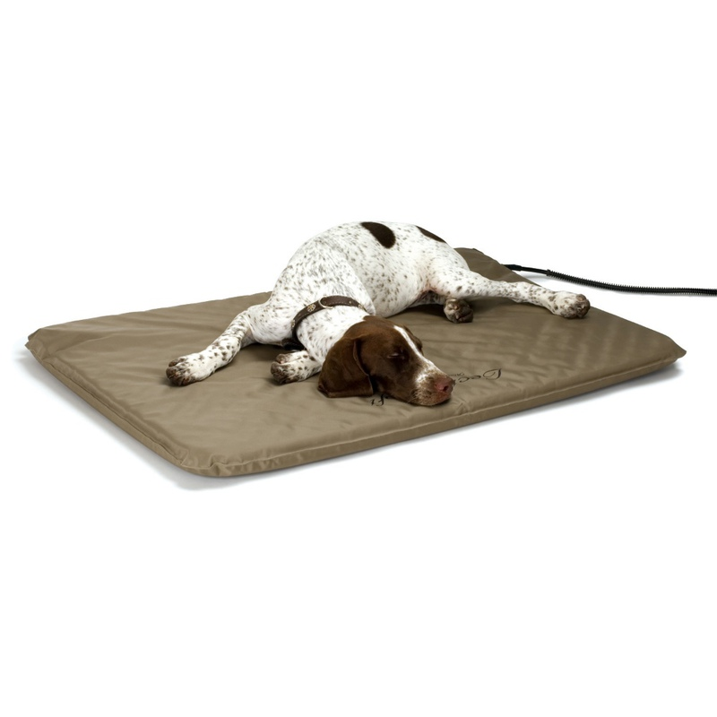"K&H Pet Products Lectro-Soft Heated Outdoor Bed Large Tan 25"" x 36"" x 1.5"""