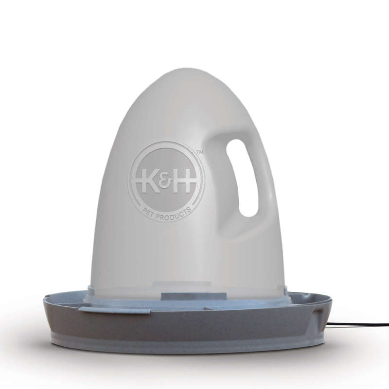 "K&H Pet Products Poultry Waterer Heated 2.5 gallon Gray 16"" x 16"" x 15"""