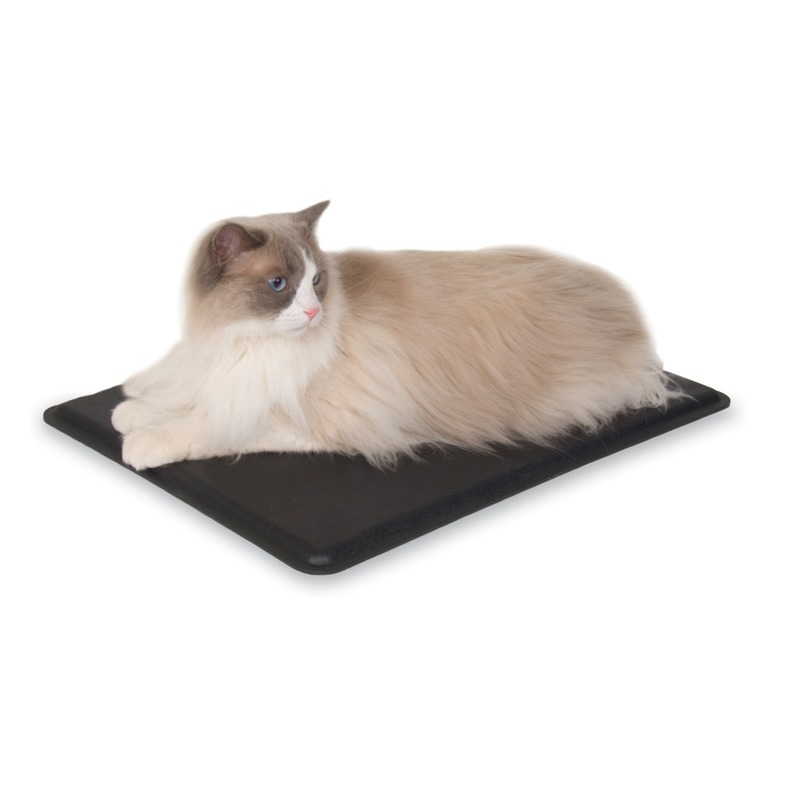 "K&H Pet Products Outdoor Heated Kitty Pad Black 12.5"" x 18.5"" x 0.5"""