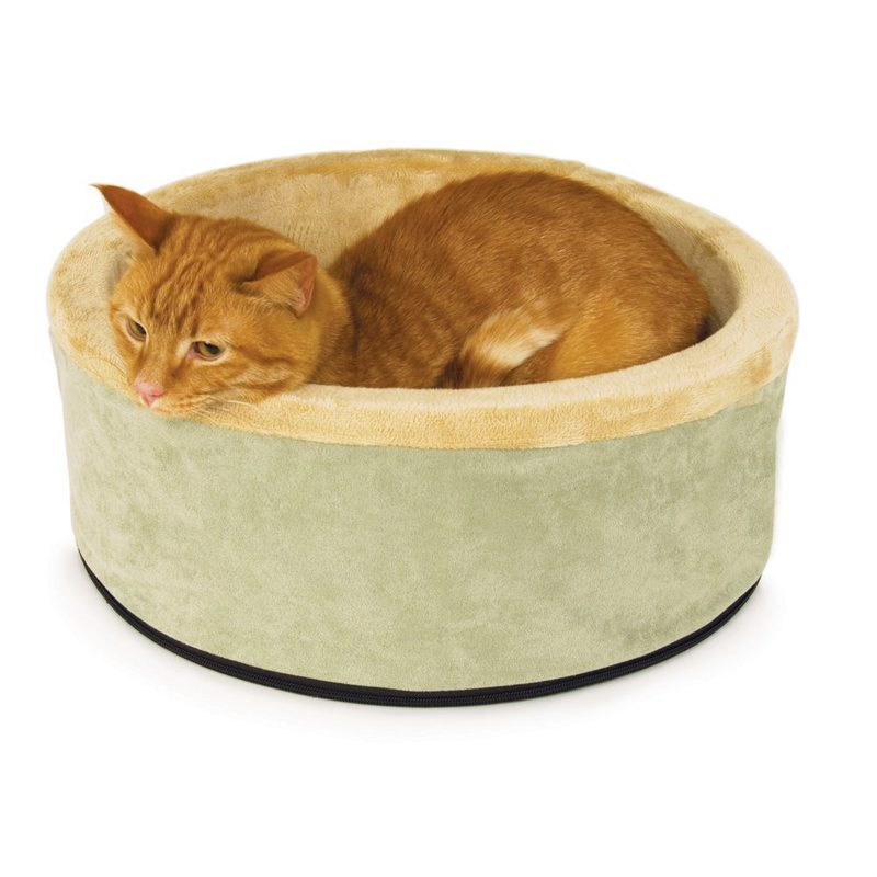 "K&H Pet Products Thermo-Kitty Bed Small Sage 16"" x 16"" x 6"""