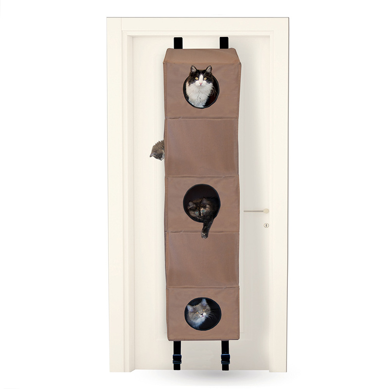 "K&H Pet Products Hangin Cat Condo Small Tan 16"" x 16"" x 65"""
