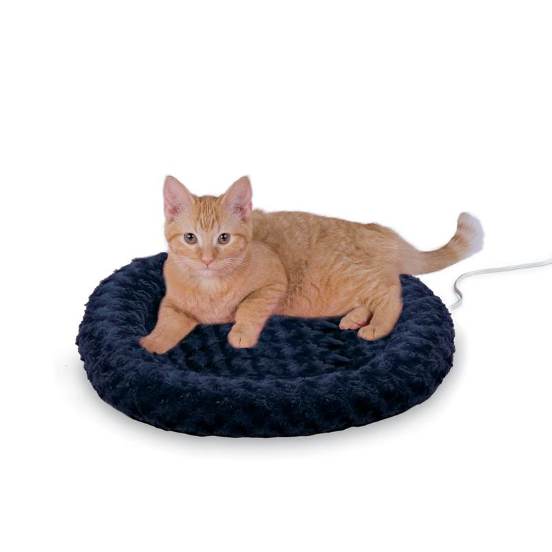 "K&H Pet Products Thermo-Kitty Fashion Splash Bed Blue 16"" x 16"" x 2"""