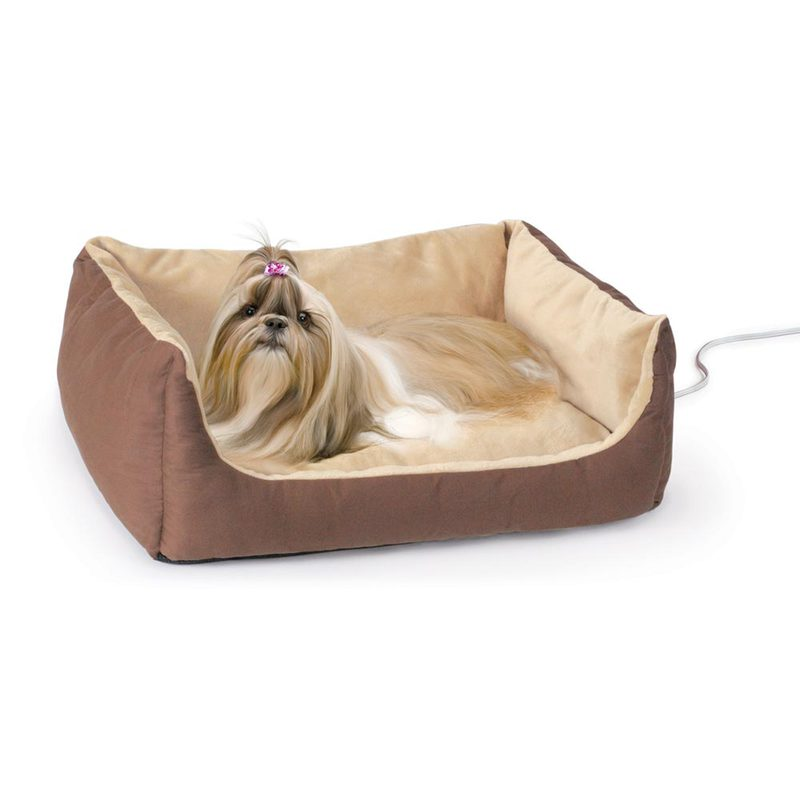 "K&H Pet Products Thermo-Pet Cuddle Cushion Brown 14"" x 23"" x 7"""