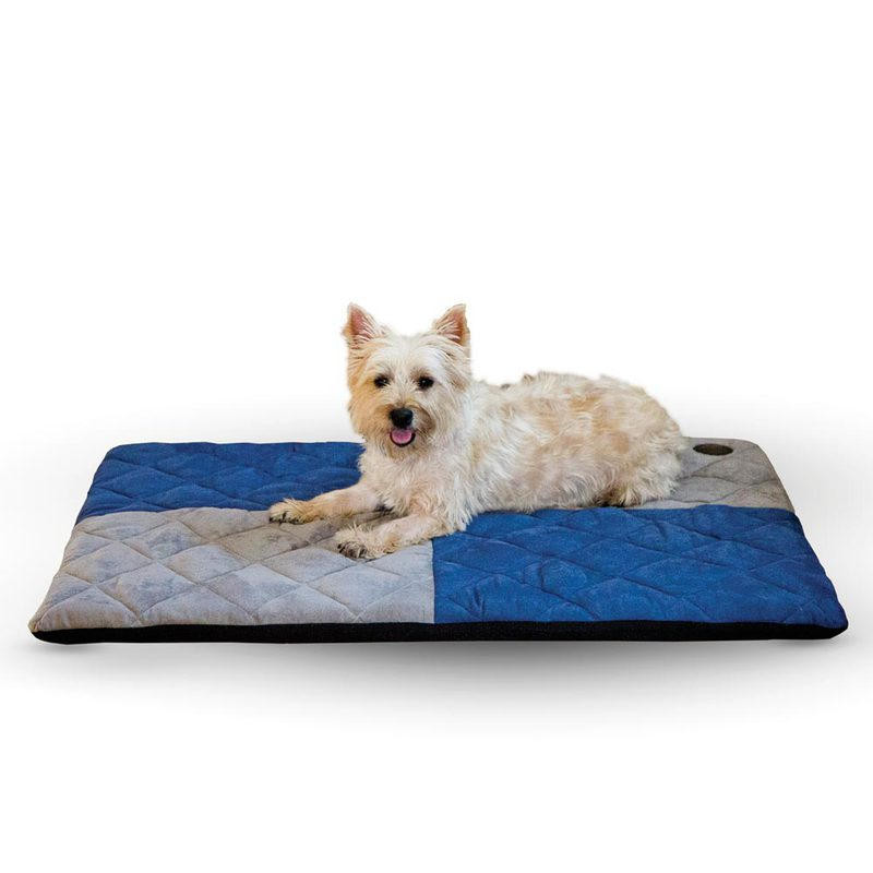 "K&H Pet Products Quilted Memory Dream Pad 1"" Small Blue / Gray 19.5"" x 25"" x 1"""
