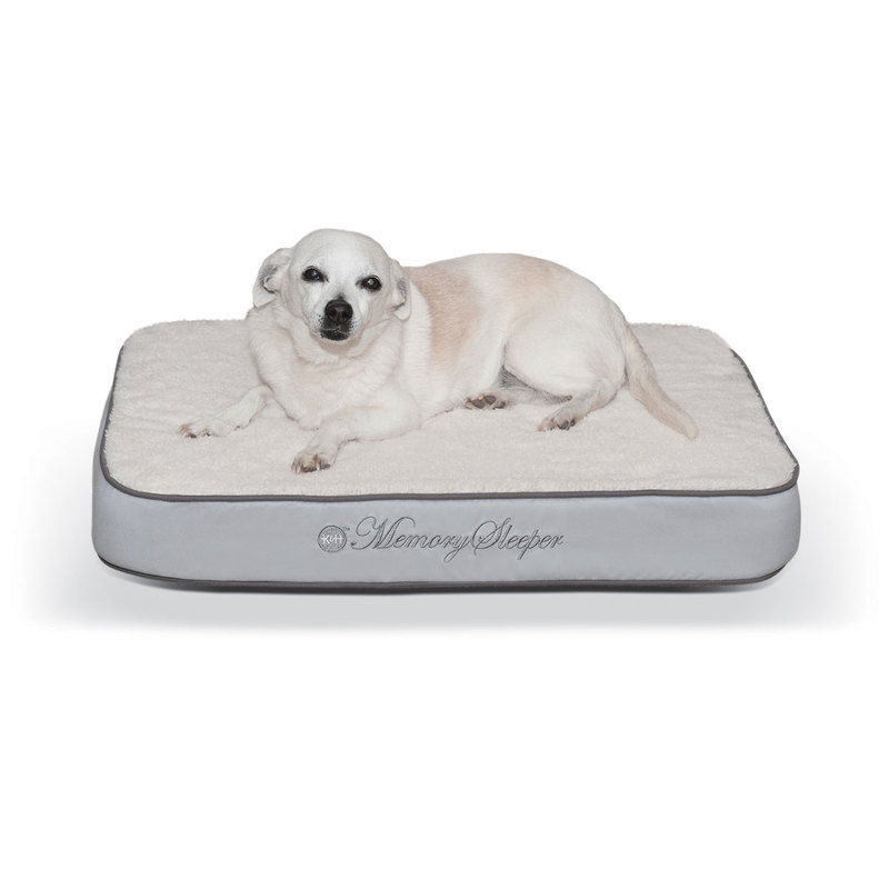 "K&H Pet Products Memory Sleeper Pet Bed Gray 18"" x 26"" x 3.75"""