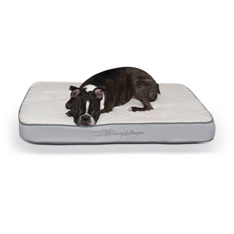 "K&H Pet Products Memory Sleeper Pet Bed Gray 23"" x 35"" x 3.75"""