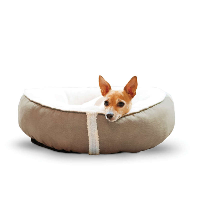 "K&H Pet Products Sleepy Nest Pet Bed Medium Caramel 24"" x 24"""