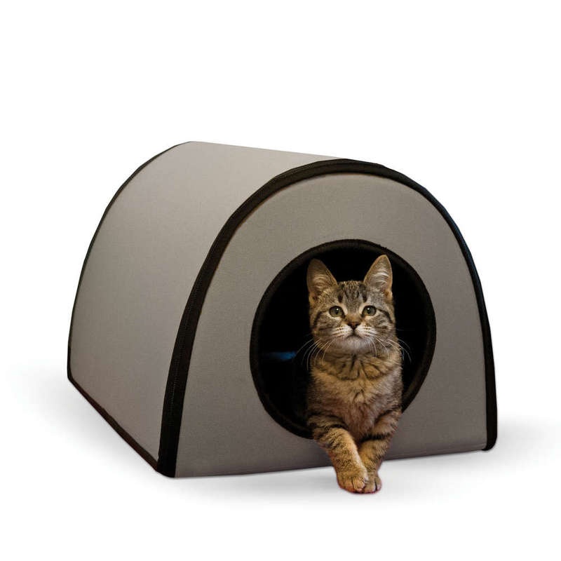 "K&H Pet Products Mod Thermo-Kitty Shelter Gray 15"" x 21.5"" x 13"""