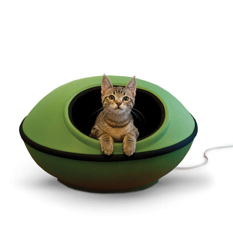 "K&H Pet Products Thermo-Mod Dream Pod Large Green/Black 22"" x 22"" x 11.5"""