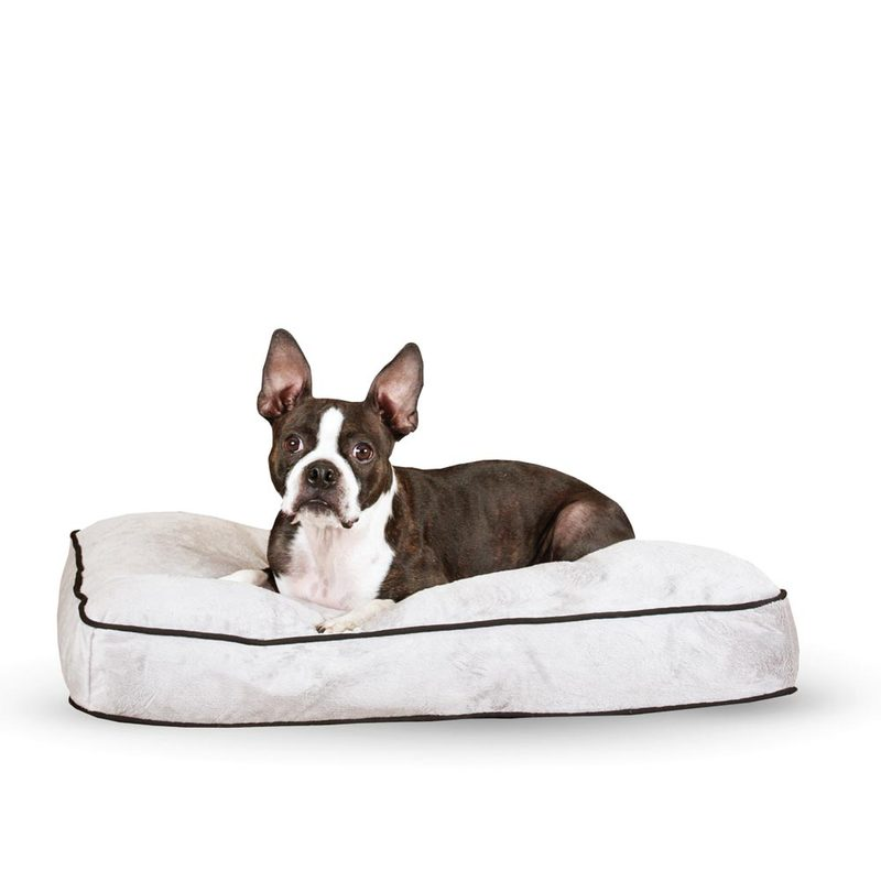 "K&H Pet Products Tufted Pillow Top Pet Bed Medium Gray 27"" x 36"" x 7.5"""