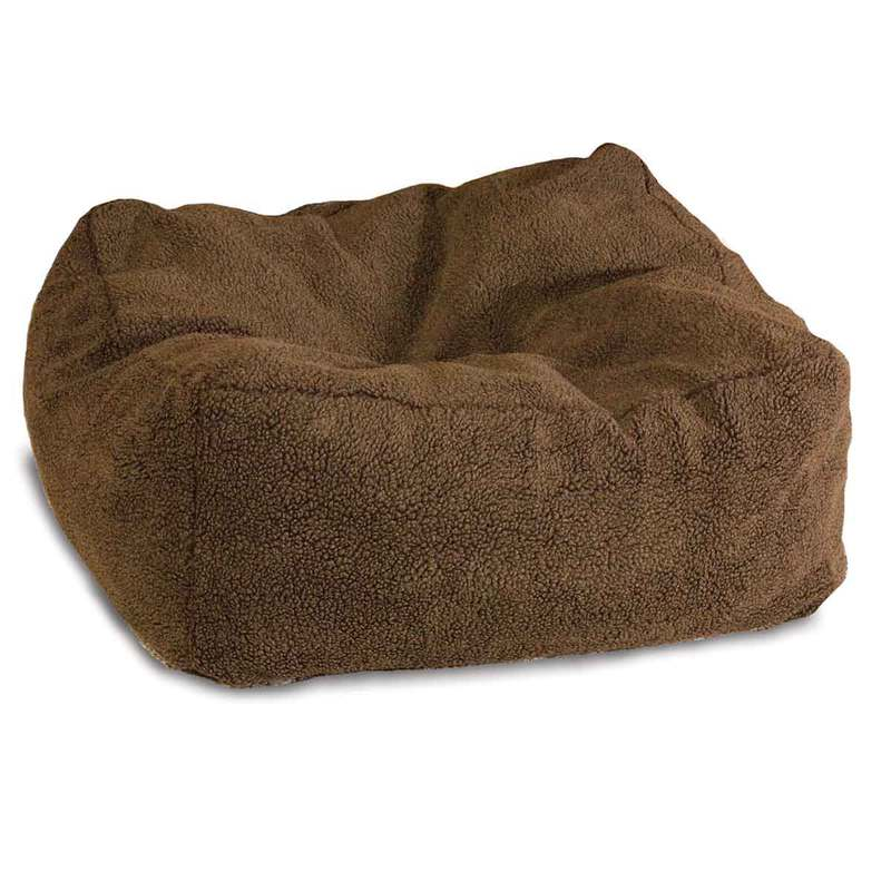 "K&H Pet Products Cuddle Cube Pet Bed Large Mocha 32"" x 32"" x 12"""