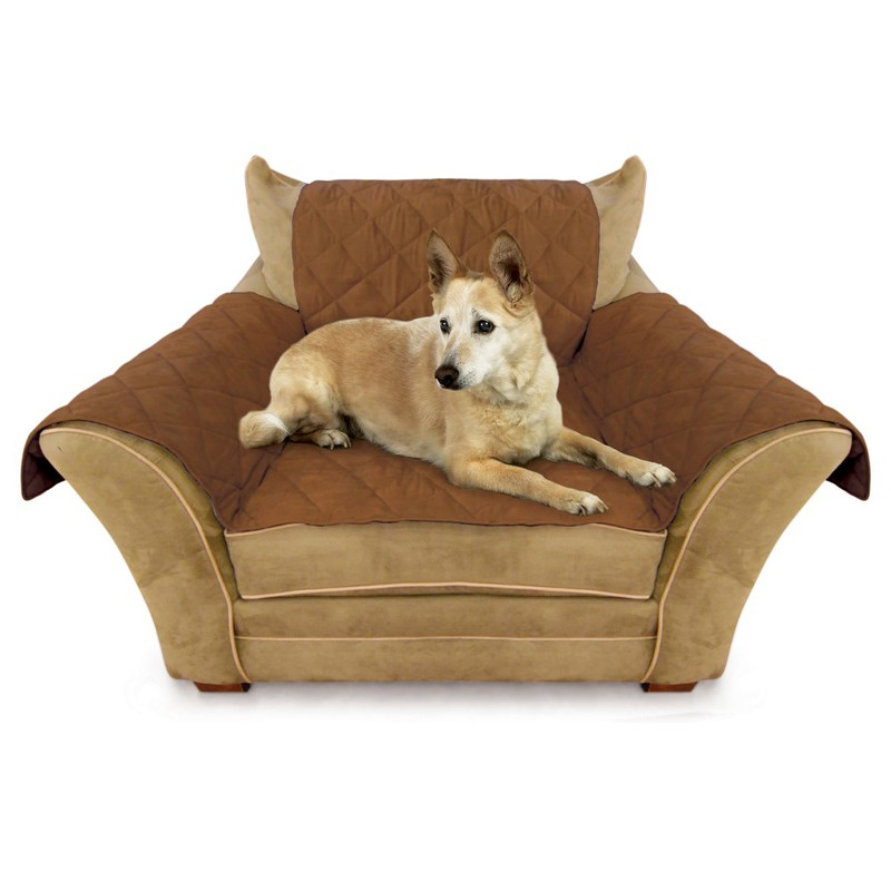 "K&H Pet Products Furniture Cover Chair Mocha 22"" x 26"" seat, 42"" x 47"" back, 22"" x 26"" side arms"