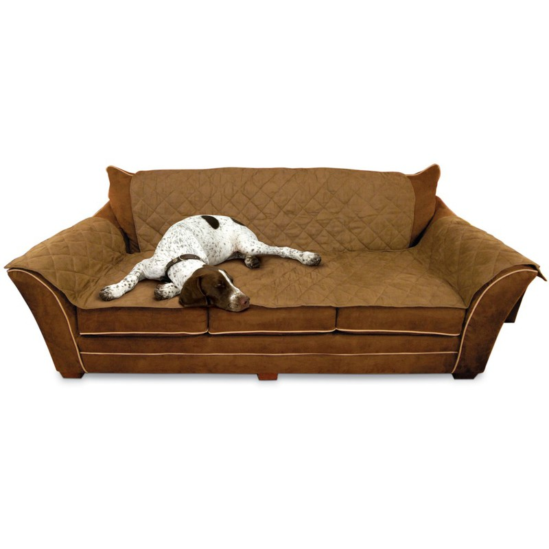 "K&H Pet Products Furniture Cover Couch Mocha 26"" x 70"" seat, 42"" x 88"" back, 22"" x 26"" side arms"
