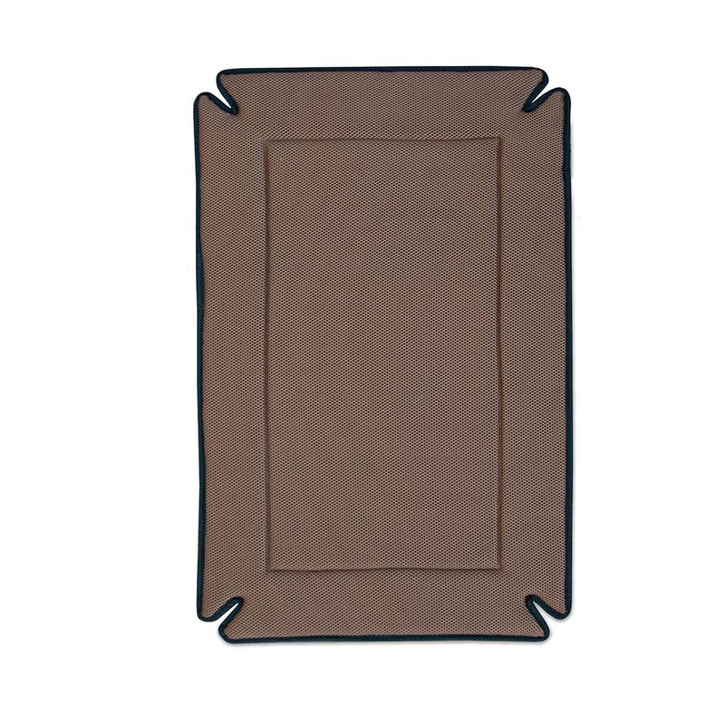"K&H Pet Products Odor-Control Dog Crate Pad Mocha 14"" x 22"" x 0.5"""
