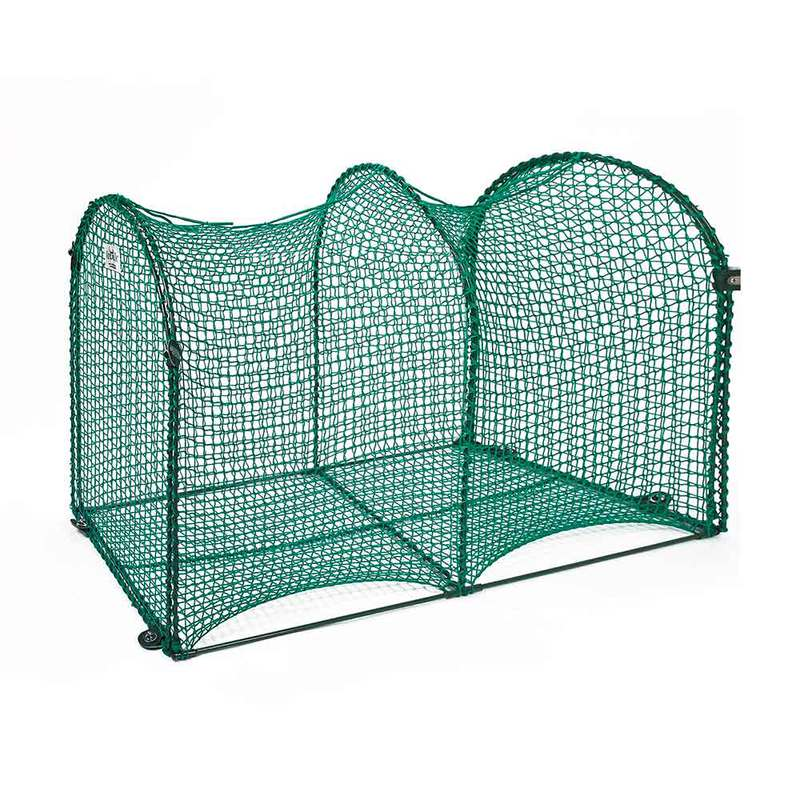 "Kittywalk Deck and Patio Outdoor Cat Enclosure Green 48"" x 18"" x 24"""