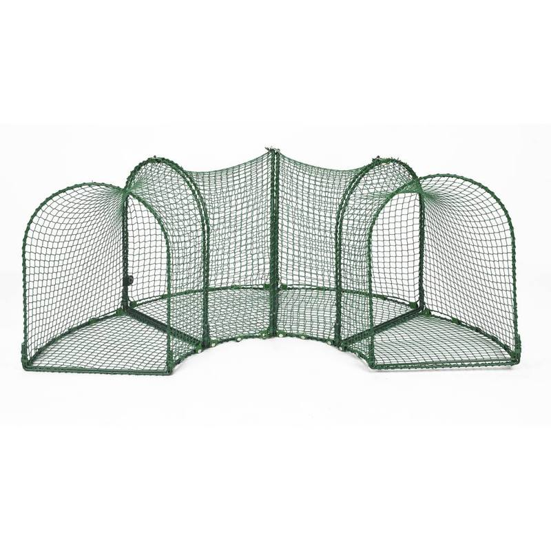 "Kittywalk Curves (4) Outdoor Cat Enclosure Green 96"" x 18"" x 24"""