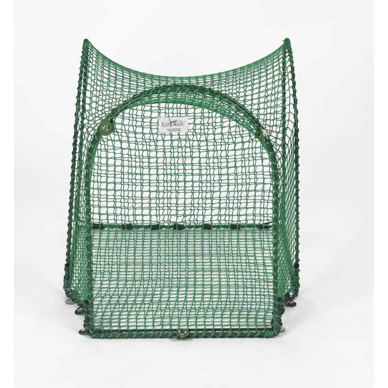 "Kittywalk Single T-Connect Unit Outdoor Cat Enclosure Green 24"" x 24"" x 24"""