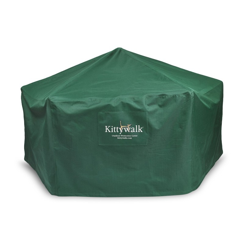 "Kittywalk Outdoor Protective Cover for Kittywalk Gazebo Green 70"" x 70"" 38"""