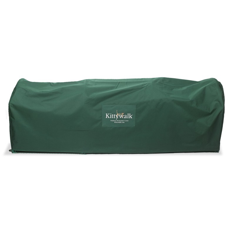 "Kittywalk Outdoor Protective Cover for Kittywalk Lawn Version Green 120"" x 18"" x 24"""