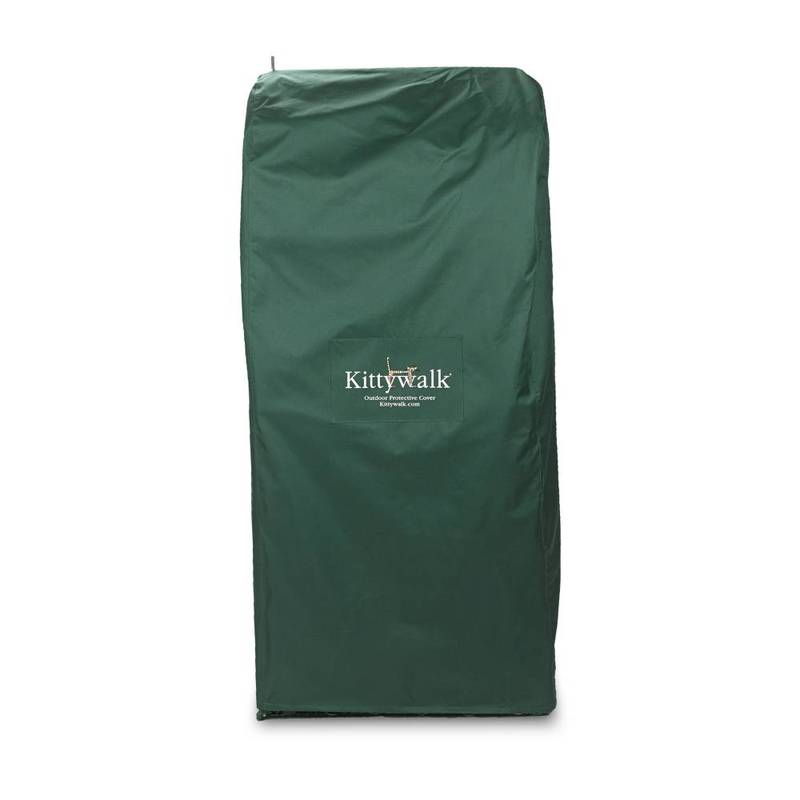 "Kittywalk Outdoor Protective Cover for Kittywalk Penthouse Green 18"" x 24"" x 60"""