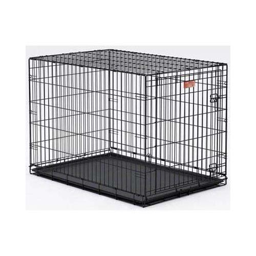 "Midwest Life Stages Single Door Dog Crate Black 48"" x 30"" x 33"""