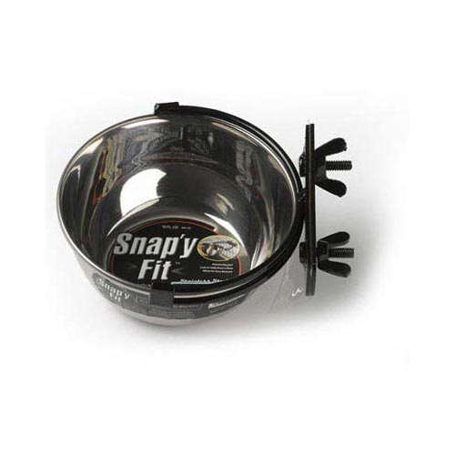 Midwest Products Stainless Steel Snap'y Fit Water And Feed Bowl 10 Oz