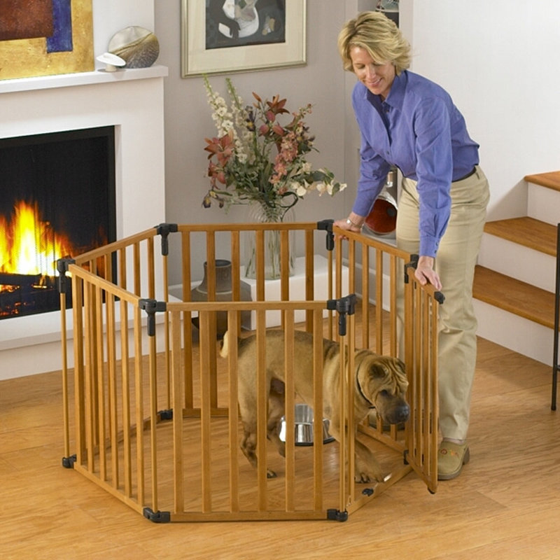 "North States 3-in-1 Wood Superyard Pet Pen 6 panel Wood 24"" x 30"""