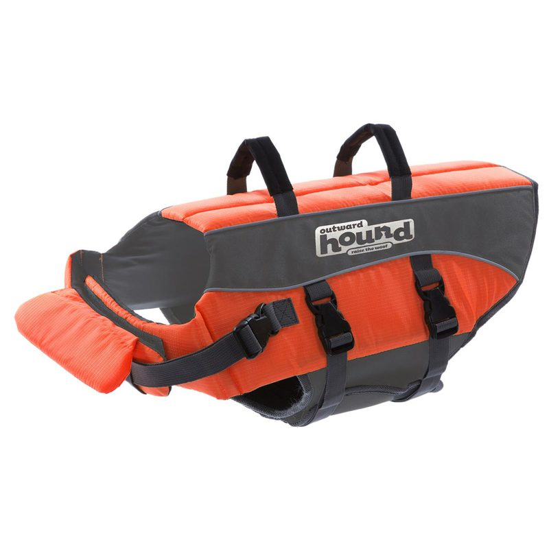 "Outward Hound Dog Life Jacket Large Orange 12"" x 18"" x 11"""