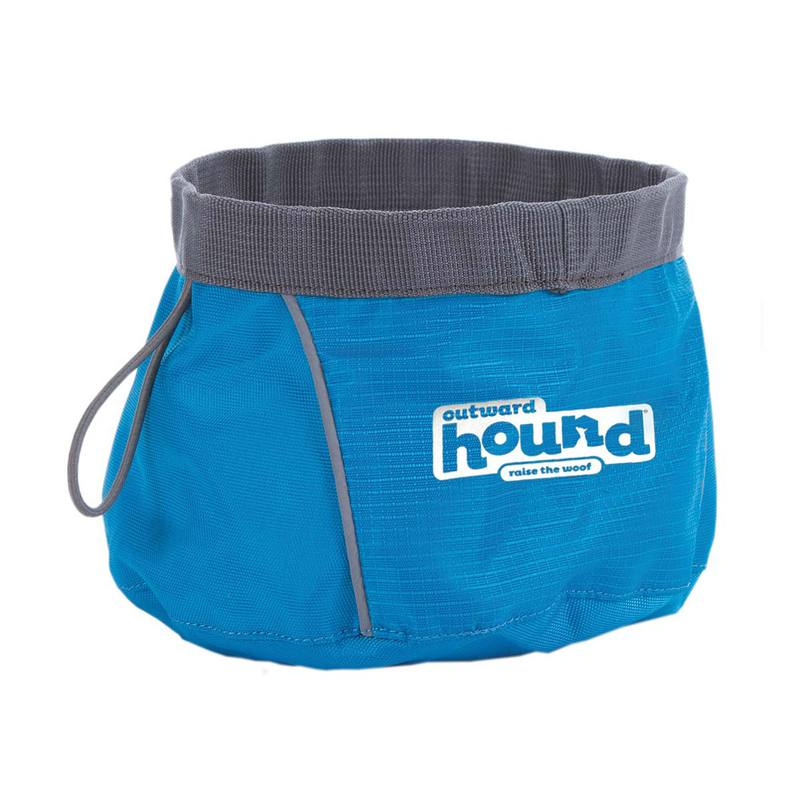"Outward Hound Port-A-Bowl 48oz. Medium Blue 6"" x 6"" x 3.5"""